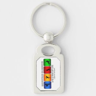 Cool Mountain Climbing It Is A Way Of Life Silver-Colored Rectangle Keychain