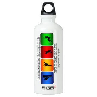 Cool Mountain Climbing It Is A Way Of Life Water Bottle