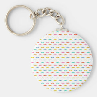 cool moustache pattern keychain