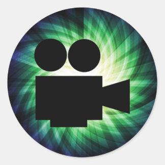 Cool Movie Camera; Video Film Sticker