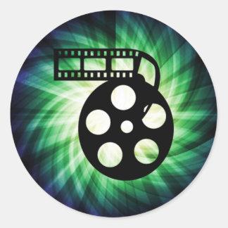 Cool Movie Film Reel Round Stickers