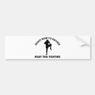 cool Muay thai  designs Bumper Sticker