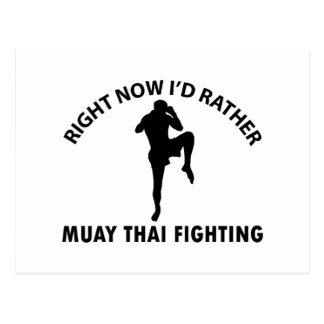 cool Muay thai  designs Postcard