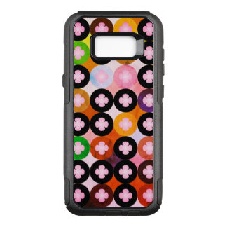 Cool Multi Colored Circles & Pink Clovers OtterBox Commuter Samsung Galaxy S8+ Case