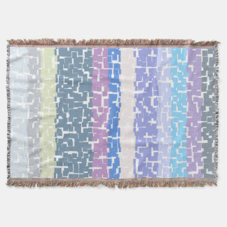 COOL Multicolor Green/Gray/Beige/Pink/Purple/Blue Throw Blanket