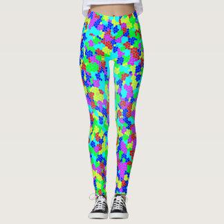 Cool Multicolor Mosaic Pattern Leggings