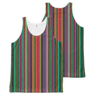 Cool Multicolored Stripes All-Over-Print Tank Top