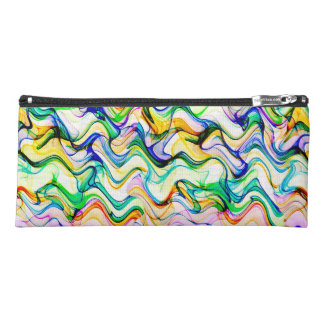 Cool Multicolored Wavy Zig Zag Pattern Pencil Case