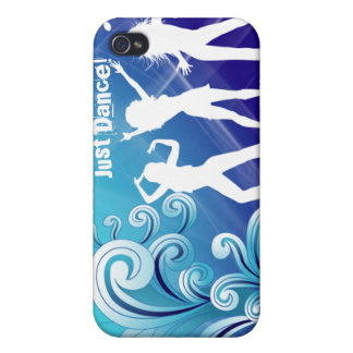 Cool Music Dance Retro iPhone Cover Blue iPhone 4 Cover