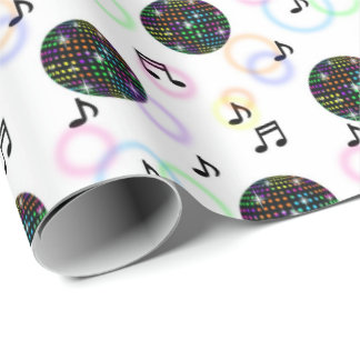 Cool music disco ball pattern party wrap