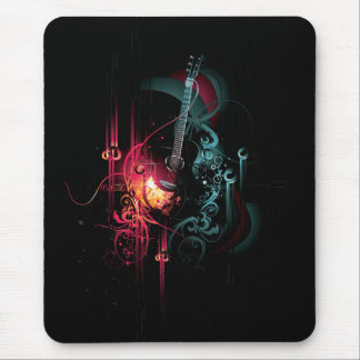 Cool Music Graphic with Guitar Mouse Pad