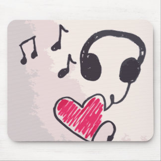 Cool Music is Love Doodle Mousepad