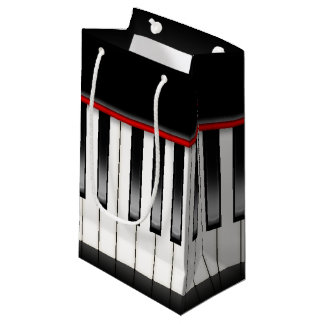 Cool music lovers piano party bag