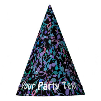 Cool Music Notes Customizable Party Hats