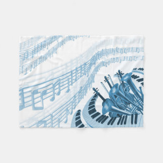 Cool Music Notes Small Fleece Blanket