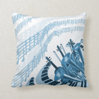 Cool Music Notes Throw Pillow