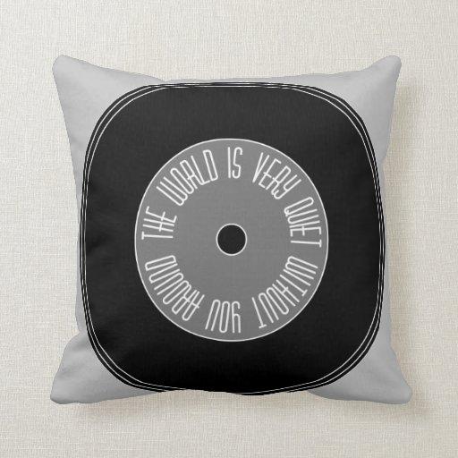 """cool """"music """" pillow"""