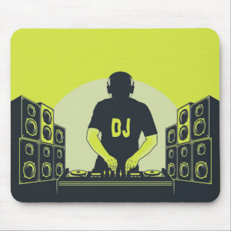 Cool Musical DJ player Mouse pad. Mouse Pad