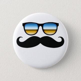 Cool Mustache under Shades 2 Inch Round Button
