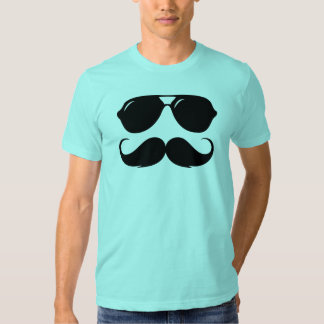 Cool Mustache with Shades T Shirt