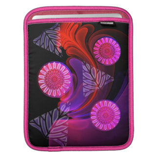 Cool Neon Flowers & Name iPad sleeve