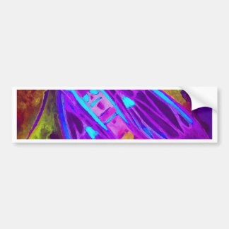 Cool Neon Insect/Bug Electric Painted Nature Bumper Sticker