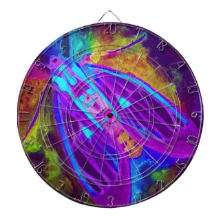 Cool Neon Insect/Bug Electric Painted Nature Dartboard
