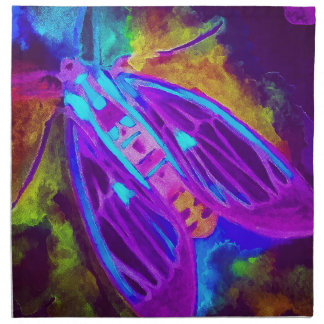 Cool Neon Insect/Bug Electric Painted Nature Napkin