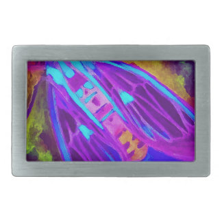 Cool Neon Insect/Bug Electric Painted Nature Rectangular Belt Buckle