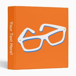 Cool Nerd Glasses 3 Ring Binder