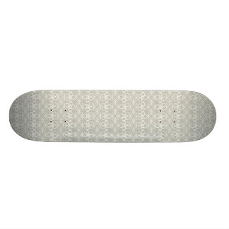 Cool Neutral Gray Floral Doodle Pattern Skate Board