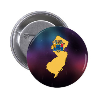 Cool New Jersey Flag Map 2 Inch Round Button