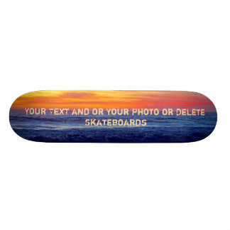 Cool Night Sunset Beach Skateboards Personalized