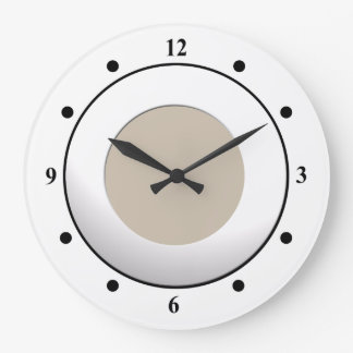 Cool No Digits on White Frame on Custom Color Wallclocks