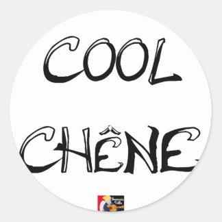 COOL OAK - Word games - François City Classic Round Sticker