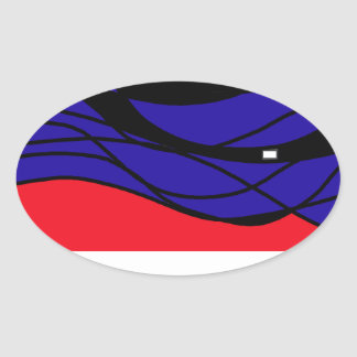 Cool obsession oval sticker