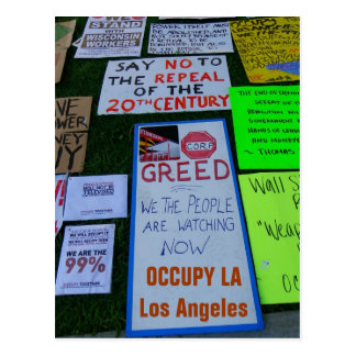 Cool Occupy LA Postcard! Postcard