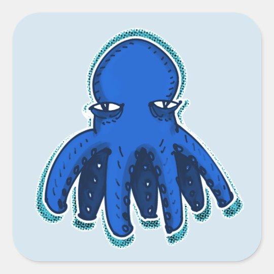 cool octopus sweet cartoon square sticker