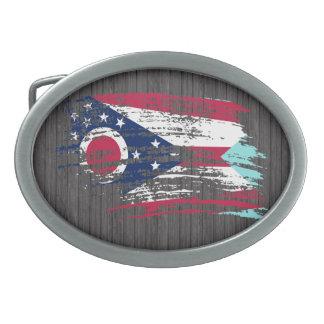 Cool Ohioan flag design Oval Belt Buckle