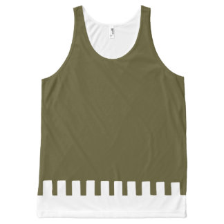 Cool Olive Unique Pattern All-Over-Print Tank Top