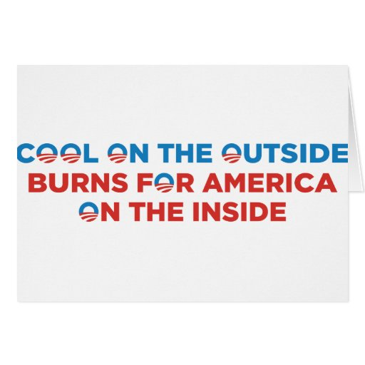 Cool on the Outside Obama Greeting Card