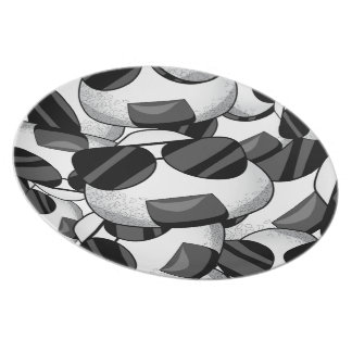 Cool onigiri pattern dinner plates