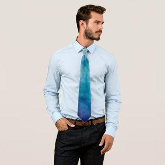 Cool Oracle Blue Watercolor Tie