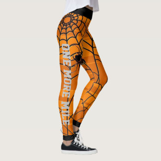 Cool Orange and Black Spider Leggings
