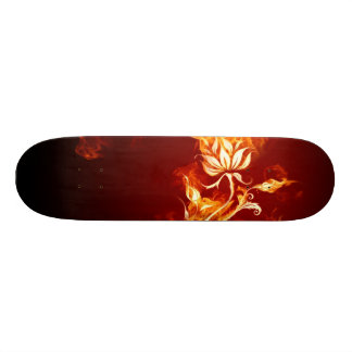 Cool Orange and Yellow Fire Flower Fire Rose Skateboards