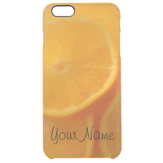 Cool Orange Drink Personalized Clear iPhone 6 Plus Case