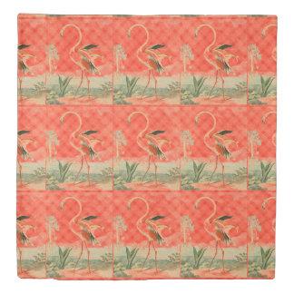 Cool Orange Reversible Flamingo Duvet Cover