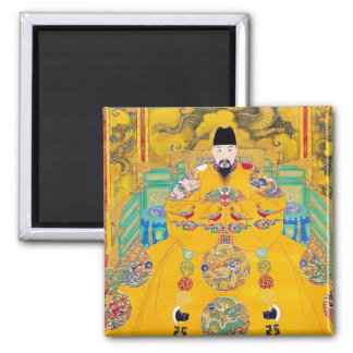 Cool oriental classic chinese woodcut emperor art magnet
