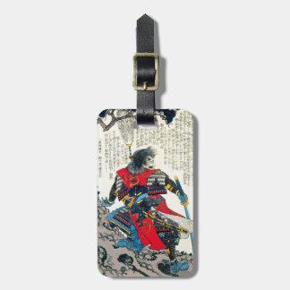 Cool oriental classic japanese samurai warrior art luggage tag