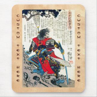 Cool oriental classic japanese samurai warrior art mouse pad